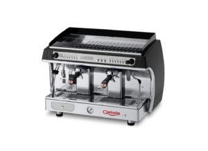 Astoria brewer equipment: a black and silver Gloria SEA 2 espress machine