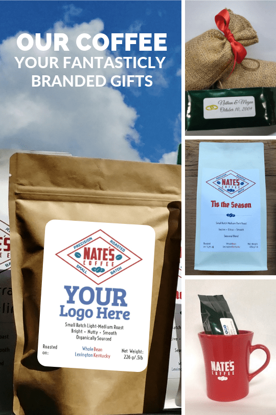 Coffee bag with generic corporate logo space