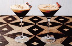 coffee margarita in martini glasses