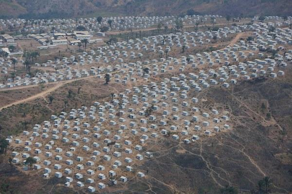 Tents at an East African Refugee camp