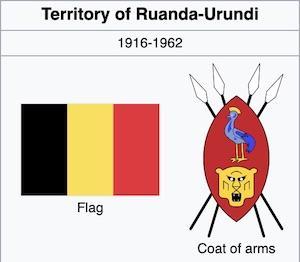 The Flag and Coat of Arms of Ruanda-Urundi